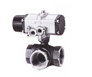 CS-TNE, KITZ 3Way Bronze Ball Valve (단동식,Single Acting)